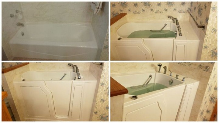 Before and After Walk in Tub Installation in Lolo, MT